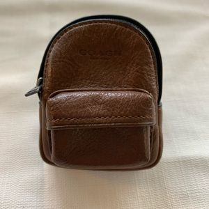Coach Mini-Backpack Coin Case.